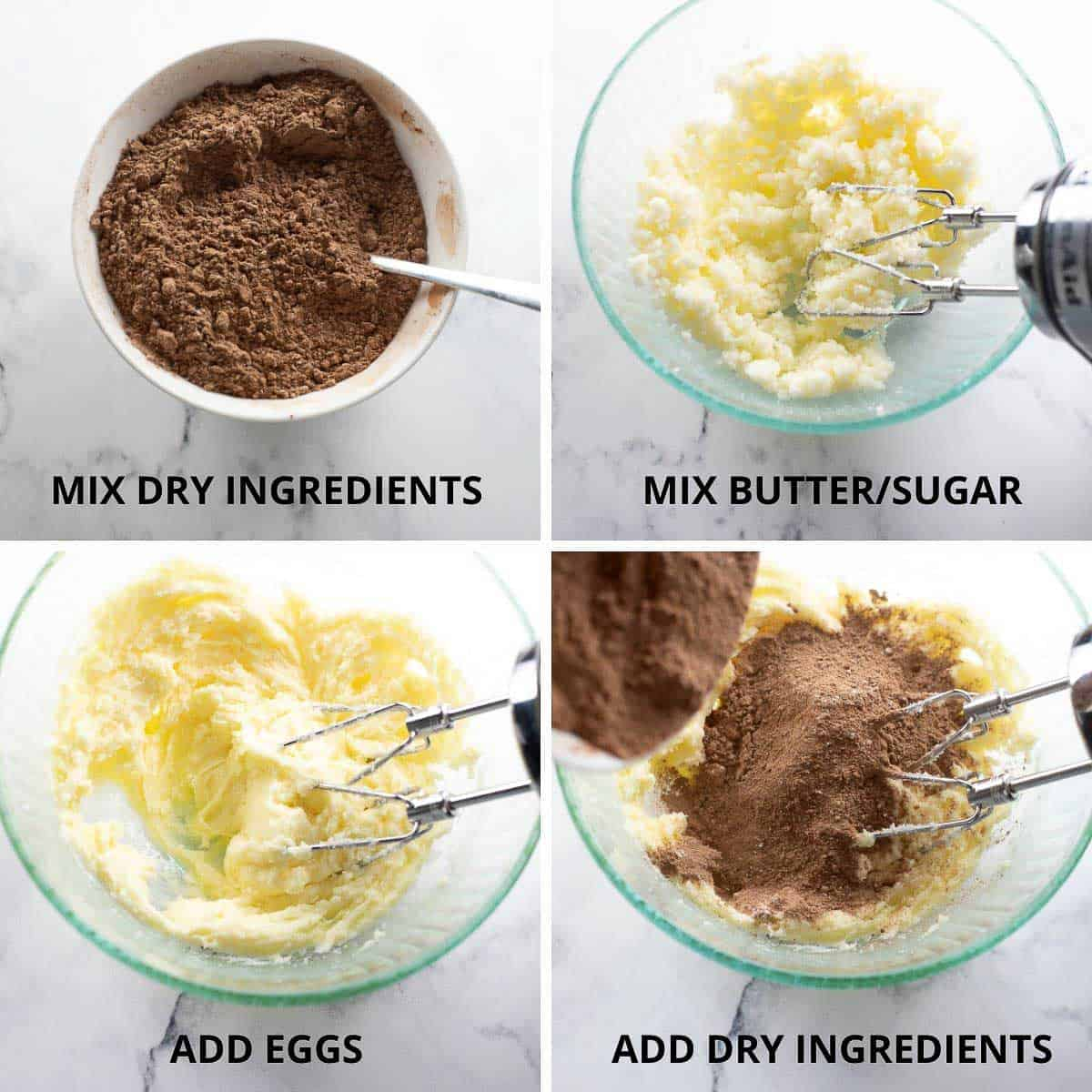 step by step photos of how to make gluten free oreo cookie dough