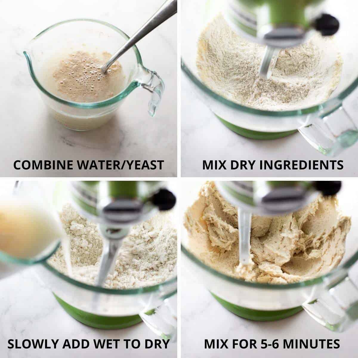 step by step photos of how to make gluten-free pizza crust