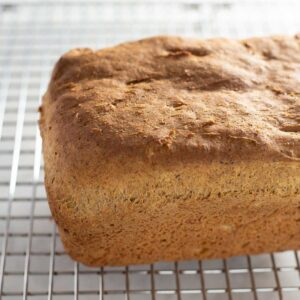 gluten free bread cooling on rack