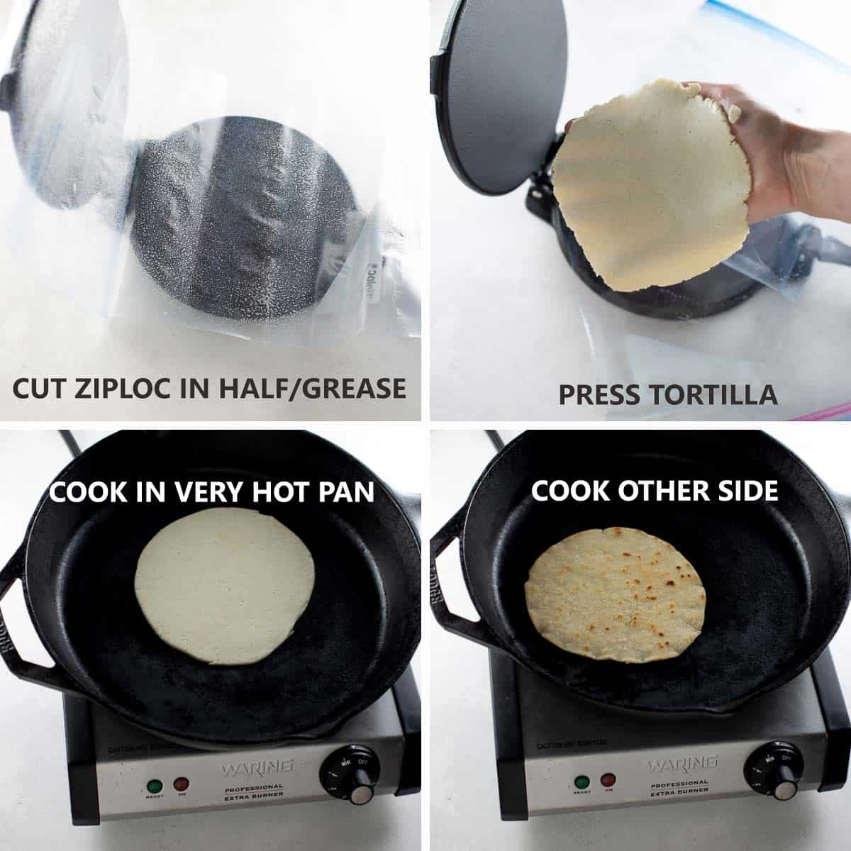 step by step photos of how to make cook homemade gluten free tortillas