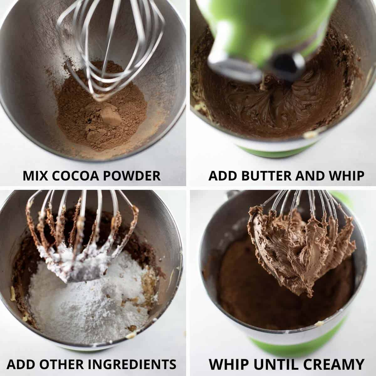 step by step photos of how to make chocolate frosting