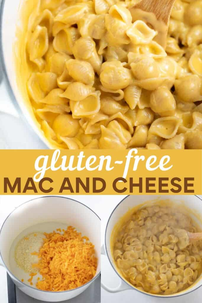 image for pinterest of how to make gluten free mac and cheese