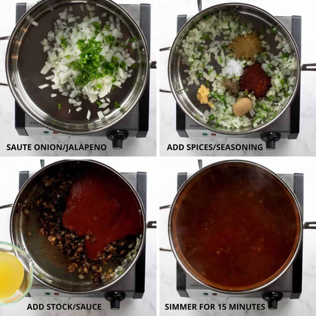step by step photos of how to make enchilada sauce