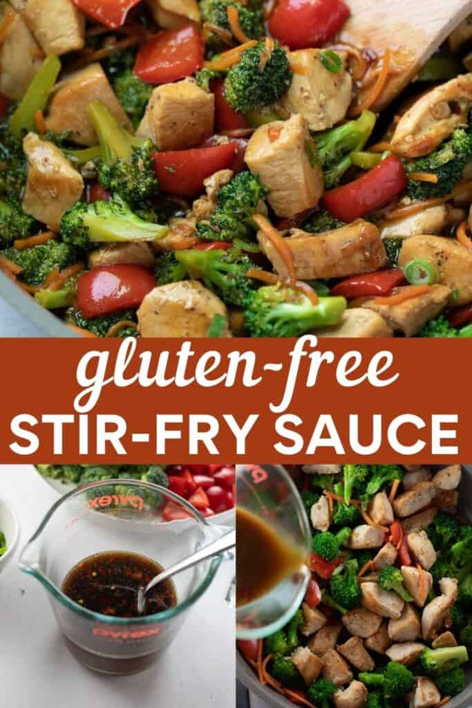 collage of gluten free stir fry sauce for pinterest