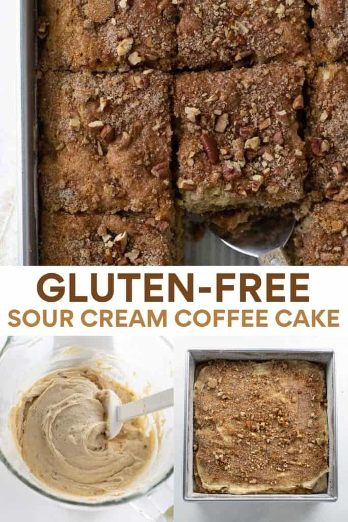 collage image of gluten-free coffee cake for pinterest