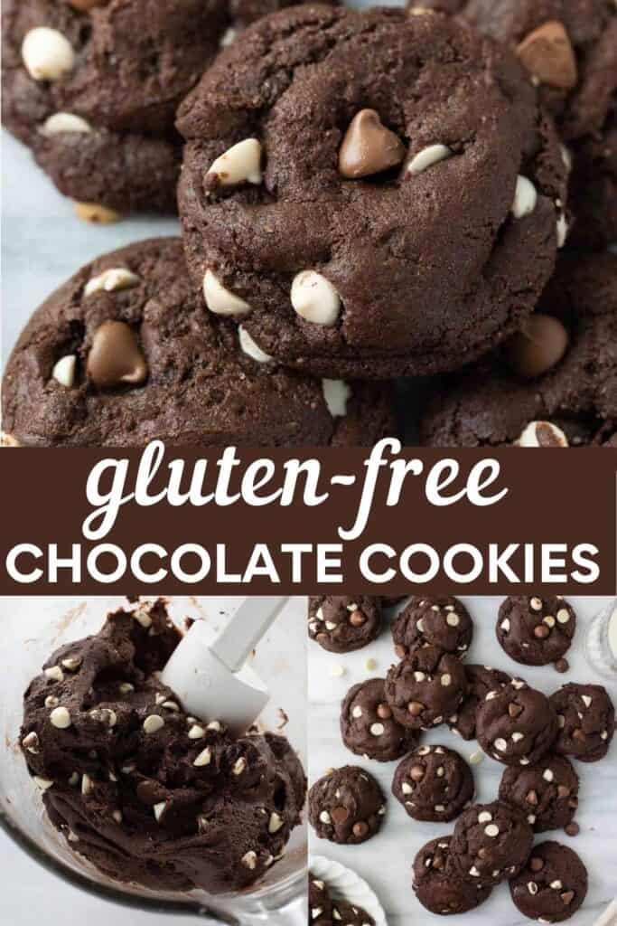 image for pinterest of gluten free chocolate cookies