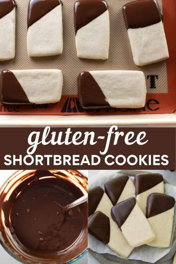 image for pinterest of gluten free shortbread cookies