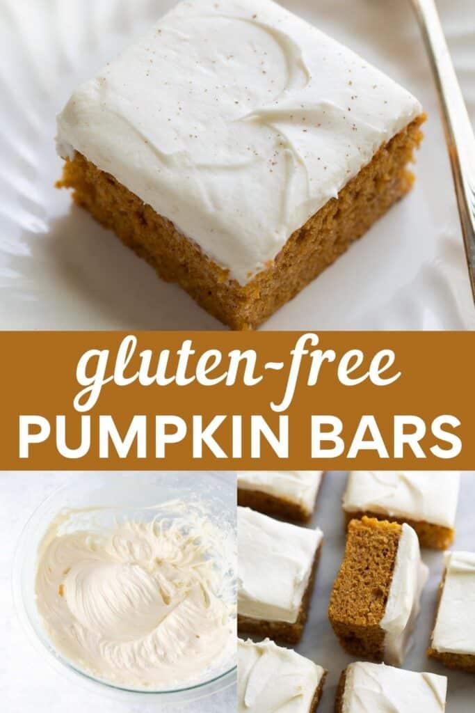 image for pinterest of gluten free pumpkin bars
