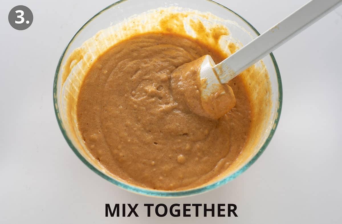 pumpkin pancake batter mixed together